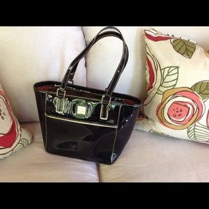 Dooney & Bourke Patent Leather Tote Handbag